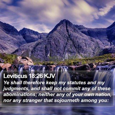Leviticus 18:26 KJV Bible Verse Image
