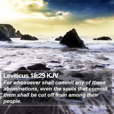 Leviticus 18:29 KJV Bible Verse Image