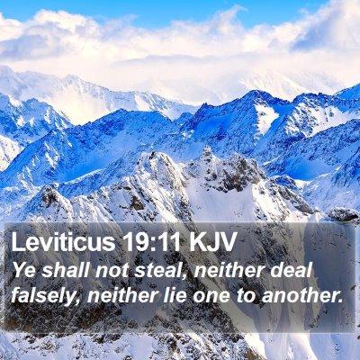 Leviticus 19:11 KJV Bible Verse Image