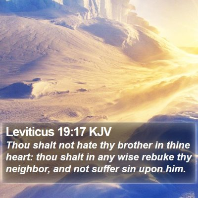 Leviticus 19:17 KJV Bible Verse Image
