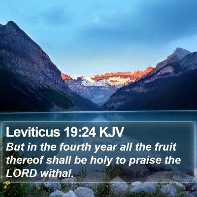 Leviticus 19:24 KJV Bible Verse Image