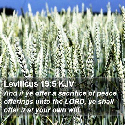 Leviticus 19:5 KJV Bible Verse Image