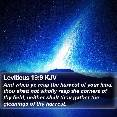 Leviticus 19:9 KJV Bible Verse Image