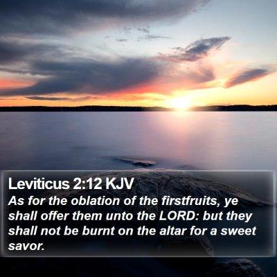 Leviticus 2:12 KJV Bible Verse Image