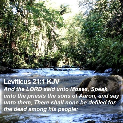 Leviticus 21:1 KJV Bible Verse Image