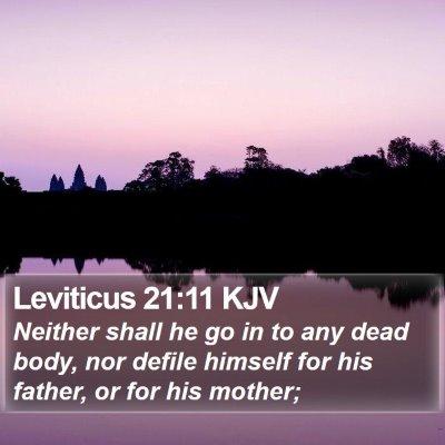 Leviticus 21:11 KJV Bible Verse Image