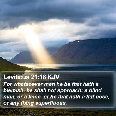 Leviticus 21:18 KJV Bible Verse Image