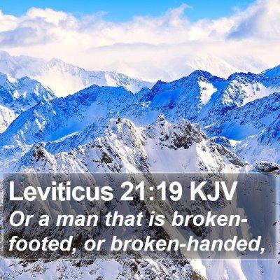 Leviticus 21:19 KJV Bible Verse Image