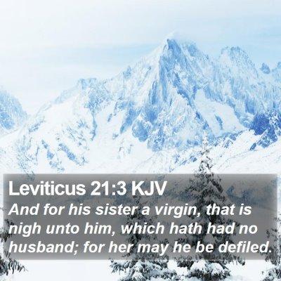 Leviticus 21:3 KJV Bible Verse Image