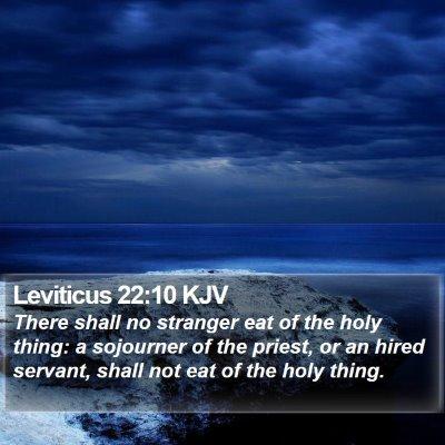 Leviticus 22:10 KJV Bible Verse Image