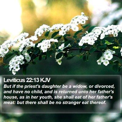 Leviticus 22:13 KJV Bible Verse Image