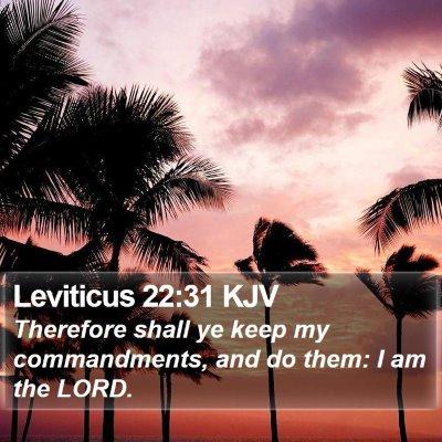 Leviticus 22:31 KJV Bible Verse Image