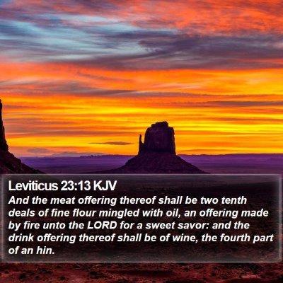 Leviticus 23:13 KJV Bible Verse Image