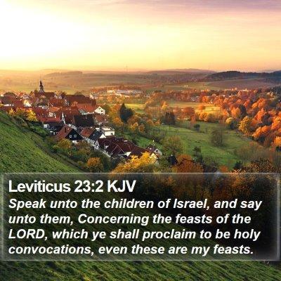 Leviticus 23:2 KJV Bible Verse Image