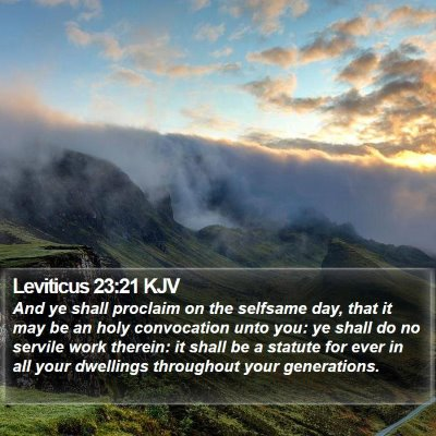 Leviticus 23:21 KJV Bible Verse Image