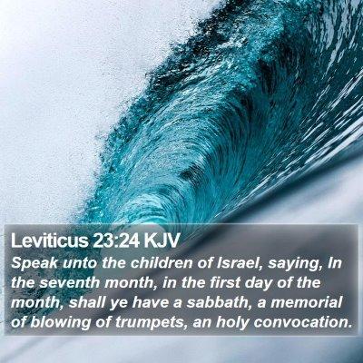 Leviticus 23:24 KJV Bible Verse Image