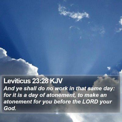 Leviticus 23:28 KJV Bible Verse Image