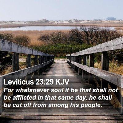 Leviticus 23:29 KJV Bible Verse Image