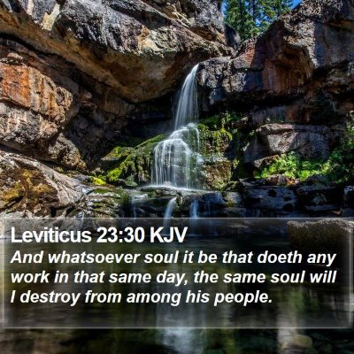 Leviticus 23:30 KJV Bible Verse Image