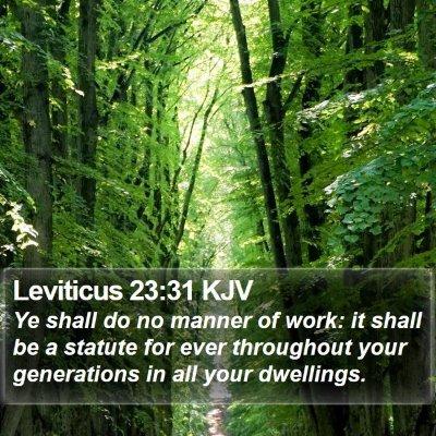Leviticus 23:31 KJV Bible Verse Image