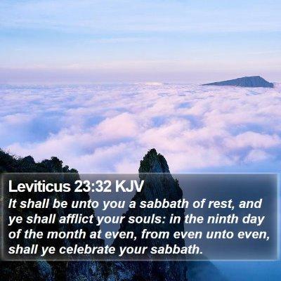 Leviticus 23:32 KJV Bible Verse Image
