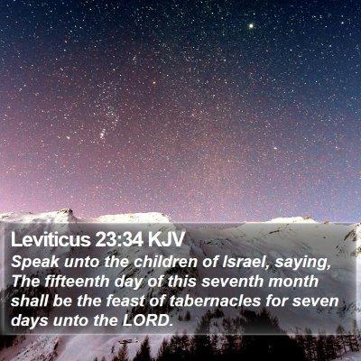 Leviticus 23:34 KJV Bible Verse Image