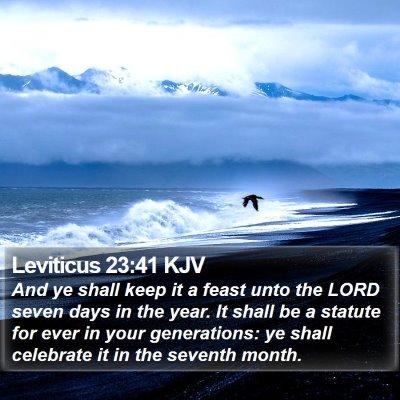 Leviticus 23:41 KJV Bible Verse Image
