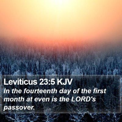 Leviticus 23:5 KJV Bible Verse Image