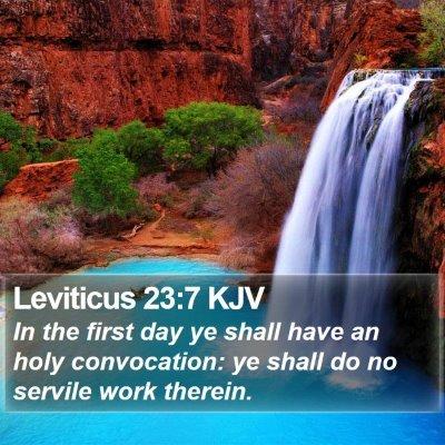 Leviticus 23:7 KJV Bible Verse Image