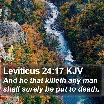 Leviticus 24:17 KJV Bible Verse Image