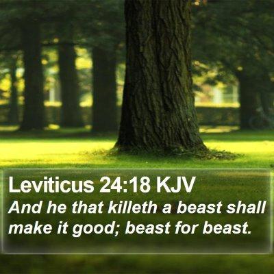 Leviticus 24:18 KJV Bible Verse Image