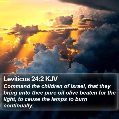 Leviticus 24:2 KJV Bible Verse Image