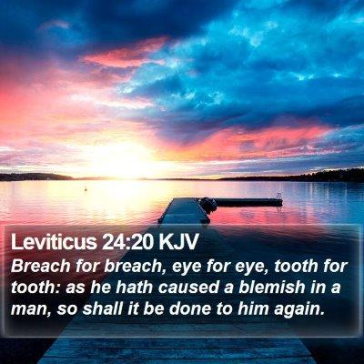 Leviticus 24:20 KJV Bible Verse Image