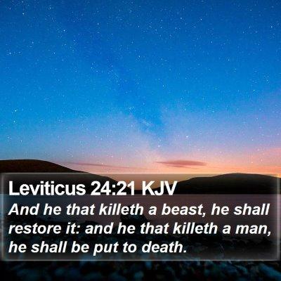 Leviticus 24:21 KJV Bible Verse Image