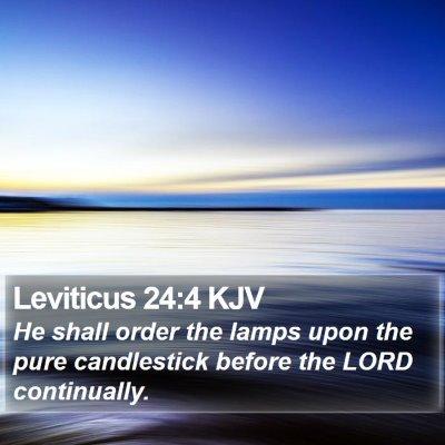 Leviticus 24:4 KJV Bible Verse Image
