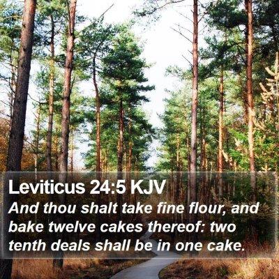 Leviticus 24:5 KJV Bible Verse Image