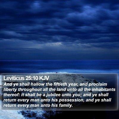 Leviticus 25:10 KJV Bible Verse Image