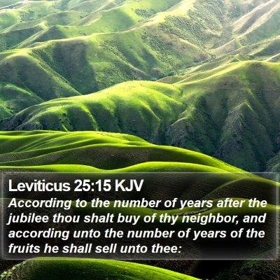 Leviticus 25:15 KJV Bible Verse Image