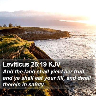 Leviticus 25:19 KJV Bible Verse Image