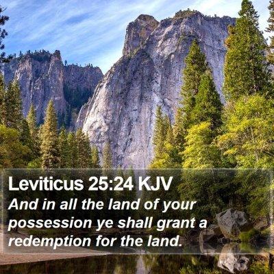 Leviticus 25:24 KJV Bible Verse Image