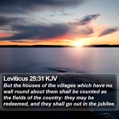 Leviticus 25:31 KJV Bible Verse Image