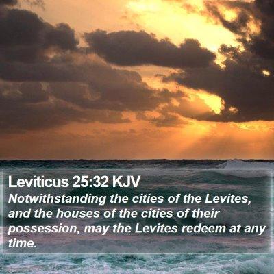 Leviticus 25:32 KJV Bible Verse Image
