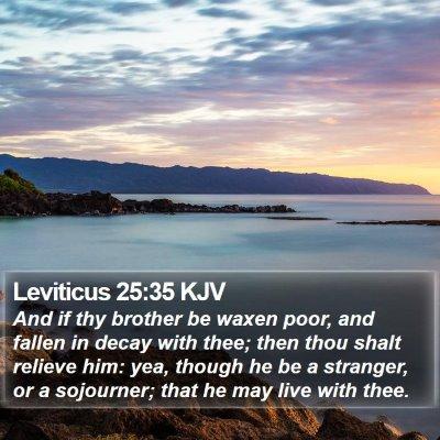 Leviticus 25:35 KJV Bible Verse Image