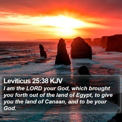 Leviticus 25:38 KJV Bible Verse Image