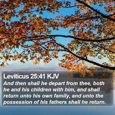 Leviticus 25:41 KJV Bible Verse Image