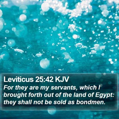 Leviticus 25:42 KJV Bible Verse Image