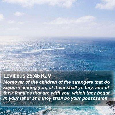 Leviticus 25:45 KJV Bible Verse Image