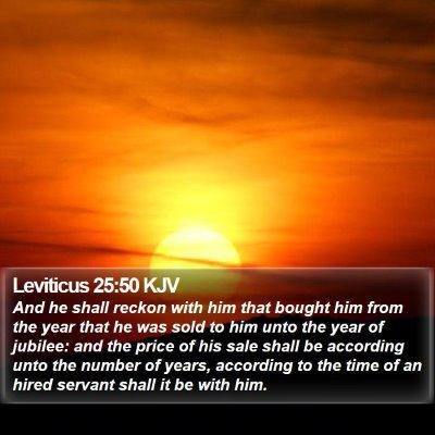Leviticus 25:50 KJV Bible Verse Image