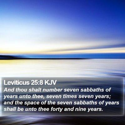Leviticus 25:8 KJV Bible Verse Image