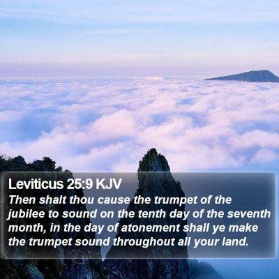 Leviticus 25:9 KJV Bible Verse Image
